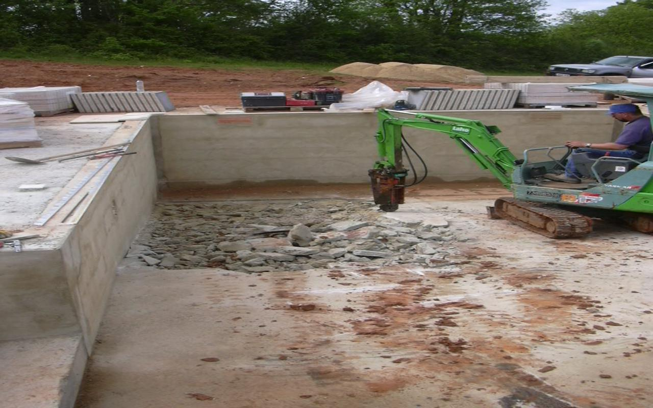 Transformation piscine fages ma onnerie for Transformation piscine